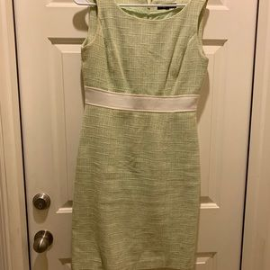 Alex Marie mint green and white dress